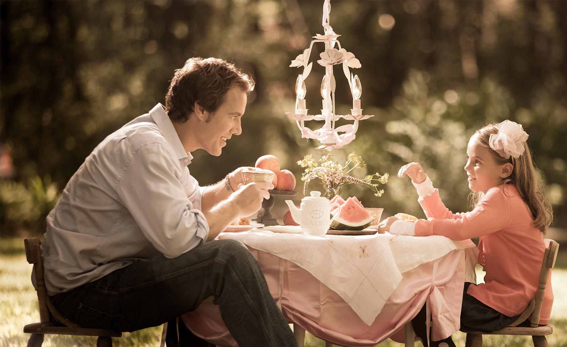 tea party, father daughter