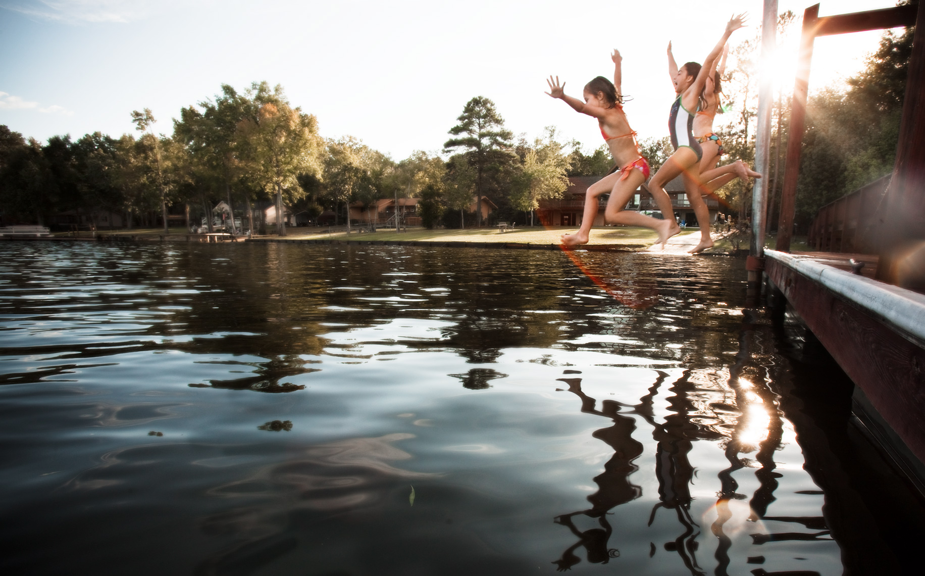 Lake-kids-jump-dock