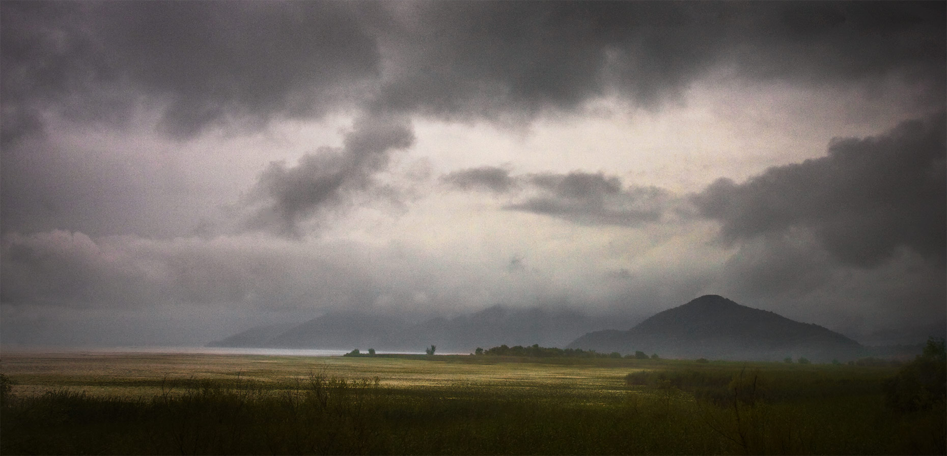 Montenegro, clouds, marsh
